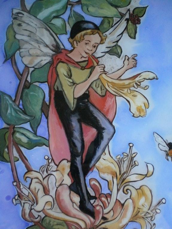 Peinture sous verre - Rêves de Noël. Annie Saltel Annie Saltel