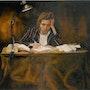 L'écrivain (reproduction). André Haulotte