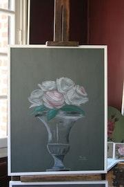 Vase aux roses.
