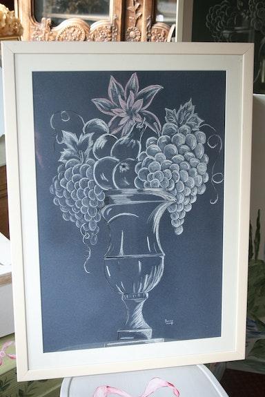 Vase aux fruits. Mary Maryvonne Burel
