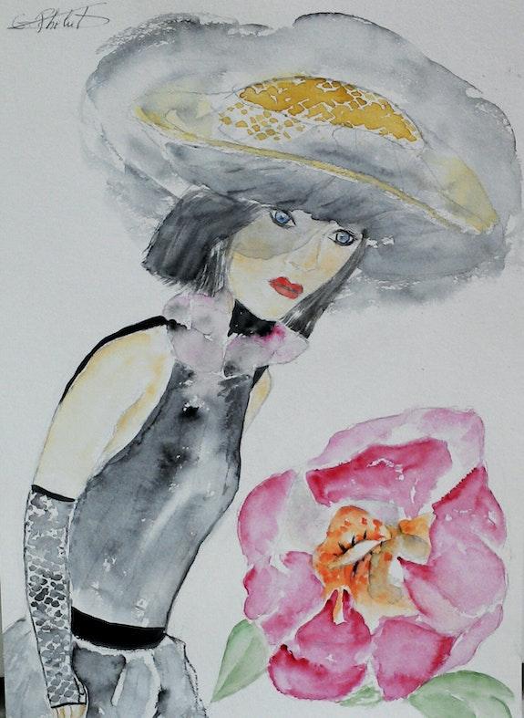 La belle et la fleur.. Ghislaine Phelut-Sanchez Ghislaine Phelut
