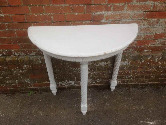 A Highly Decorative painted 19th Century Antique painted Console Table.  Cleall Antiques