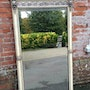 Large antique silver mirror - Silver framed decorative mirrors. Cleall Antiques