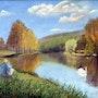 Peindre l'étang quand passe le cygne.. Gérard Pichet
