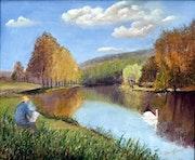 Peindre l'étang quand passe le cygne..