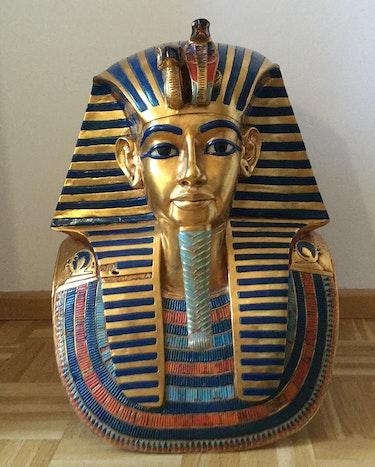 Museums-Replik: Totenmaske des Tutanchamun, Kunstharz & Blattgold, Höhe 52cm!. Thomas Kern