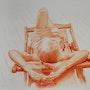 Le coeur sur la main 60x80. Eliane Marque