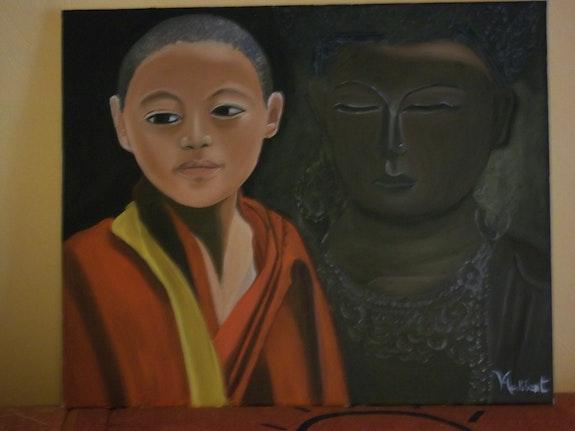 Le moine et le Bouddha. V Audibert Valérie Audibert