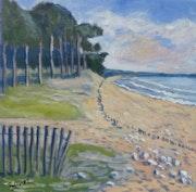 La plage du Goulet à Saint Vincent sur Jard (Sud Vendée).