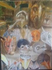 Masques dans vitrine à Venise.