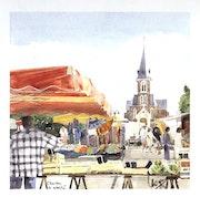 Le marché Chartres de Bretagne.