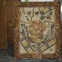 Dyonisos La figure de Maron Mosaïque assyrienne romaine 4/5ème siècle avant J. C.. Atelier De Mosaïque d'art Urschel l'artisan