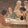 Cena in emmaus - Mosaïque romaine et partiellement byzantine,. Atelier De Mosaïque d'art Urschel l'artisan