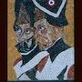 Soldat de l'an deux. Atelier De Mosaïque d'art Urschel l'artisan