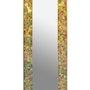 Miroir en cristal contour en émaux de verre et or et cadre en laiton. Atelier De Mosaïque d'art Urschel l'artisan