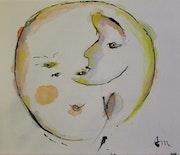 «Pleine lune» d'après une photo de Michel Rouquette.