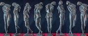 Frauenakt (stehend), Bronze.