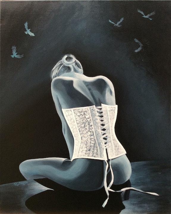 Le corset blanc. Régine G. Régine Guthmann