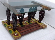 Yaazhi center table. Chettinad Studios