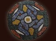 Mosaïque romaine ronde.