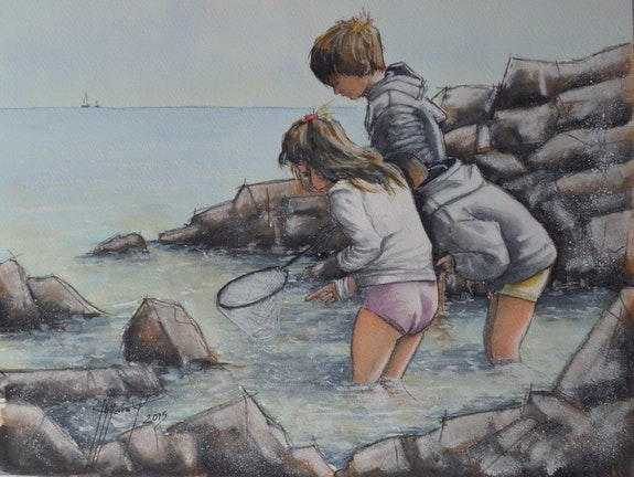 Chasse aux crabes. Jean-Marc Moisy