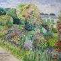 Le jardin de Giverny. Roselyne Schwarz