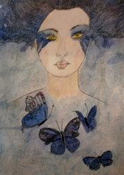 The goddess of the butterflies. Anne. B