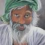 «L'homme au turban vert». Dany Serva