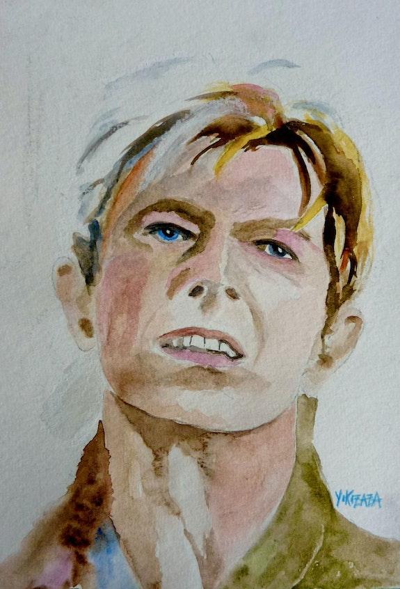 Aquarelle David Bowie. Yokozaza Yokozaza