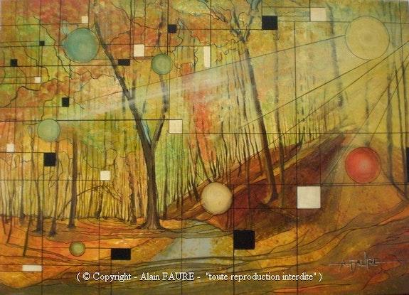 Melancolie d'automne. Alain Faure Alain Faure En Peinture