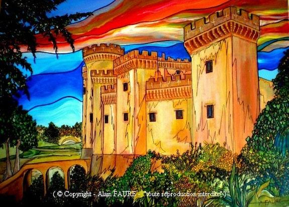 Tarascon des chevaliers. Alain Faure Alain Faure En Peinture