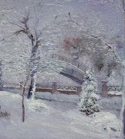 Le parc sous la neige.