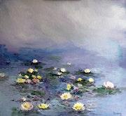 Nymphéas- En hommage à Claude Monet.
