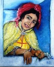 Jeune fille kabyle à la fenêtre. Essia