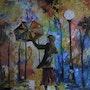 La fille au parapluie. Patrick Rouillard