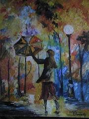 La fille au parapluie.
