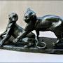 «Jeux de panthères». Marc Menzoyan Antiquités