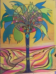 La lumière et le palmier.