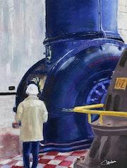La turbine bleue.