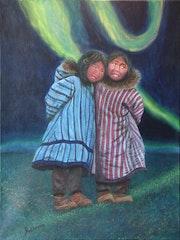 Aurore boréale chez les Inuits.