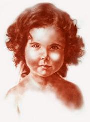 Portrait sanguine. L'atelier Du Peintre