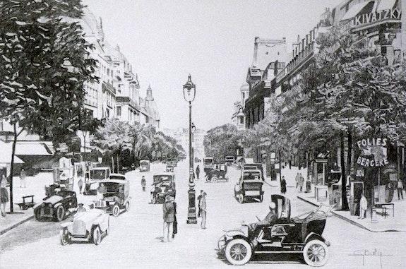 Boulevard des Italiens en 1900. Gérard Baty Gérard Baty