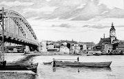 La Seine et la Gare de Lyon. Gérard Baty