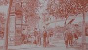 Boulevard Saint Martin - Un kiosque à journaux. Gérard Baty