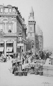 Le quai aux fleurs et la Conciergerie. Gérard Baty