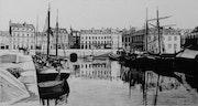 Le port de Vannes en fin de soirée. Gérard Baty