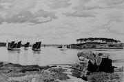 Régate de sinagots à l'île aux moines. Gérard Baty