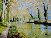 Le canal du midi - Le sentier le long du canal.. Gérard Baty