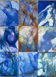 Déclinaison bleue. Françoise Parmentier