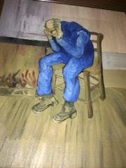 Le vieil homme triste d apres van gogh. Wallace Waide